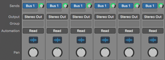 Send your groups of stems to auxiliary channels using a bus or aux send.  The exact method depends on the DAW you're using.