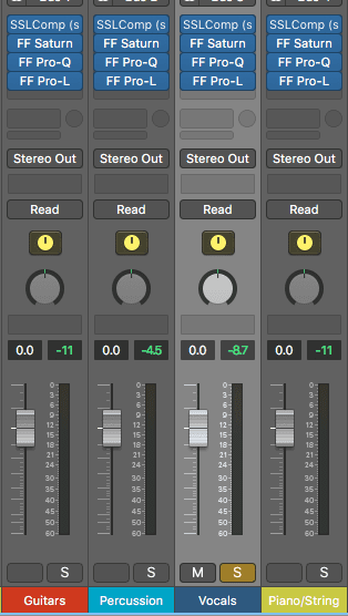To create a new version of your master, simply solo the group stems you want.