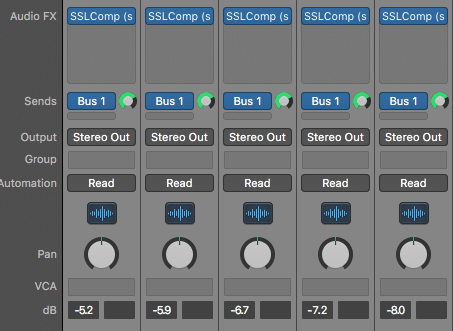 This process starts by finding like groups of instruments, or ones that you'd like to process together.