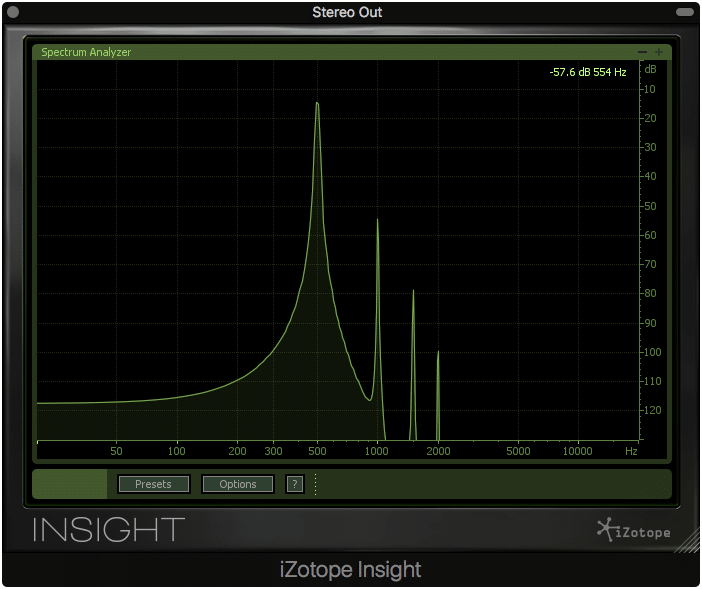 The drive function, at its highest levels, introduces first, second, and third-order harmonics.
