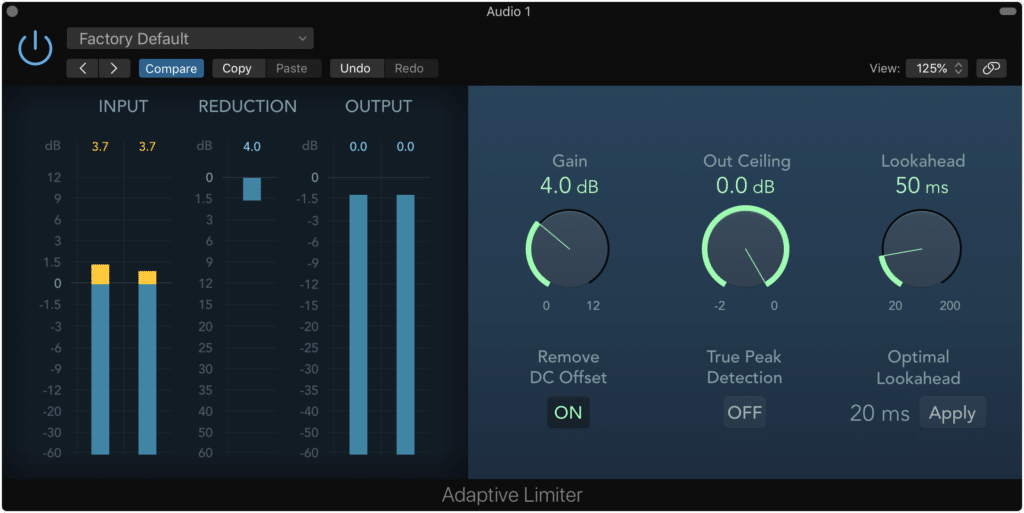 A limiter pushes the signal forward, making quieter aspects louder, and in turn, affecting the ADSR of all sound sources in the signal