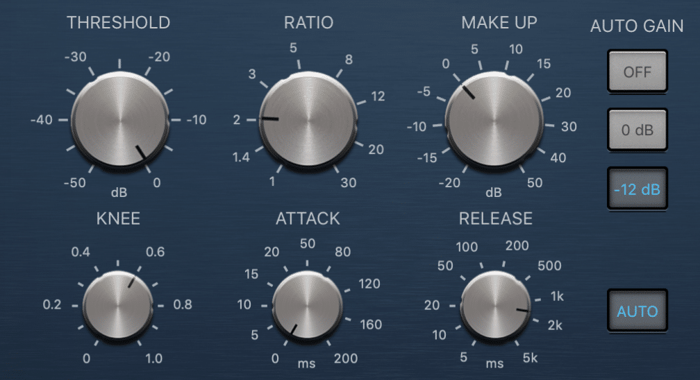 A quick attack time means the compressor kicks in sooner and begins to compress the signal almost immediately.
