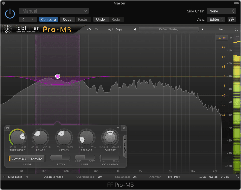 Use multiband compression why trying to compress specific frequencies.
