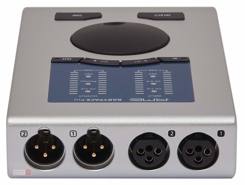 The compact design of the Babyface Pro makes it perfect for recording a live set or a rehearsal.