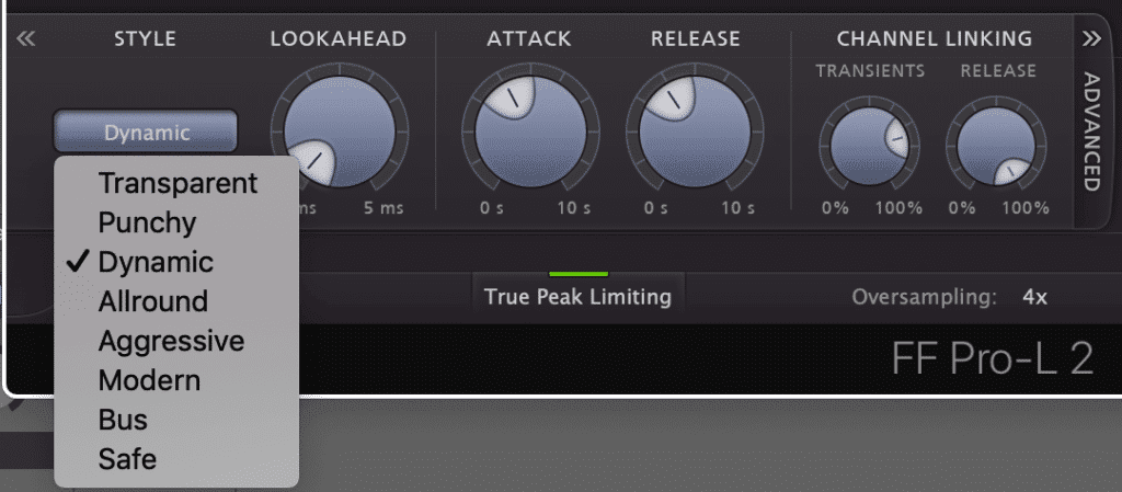 A limiter that offers transient retention and some dynamic-centric compression settings is ideal for hip-hop country music.