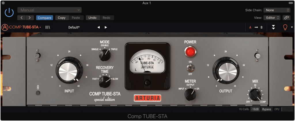 When using parallel compression, a compressor that utilizes harmonic generation is a good option.