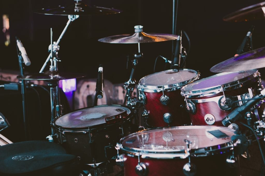 Typically, acoustic drum sets are using in traditional country music.