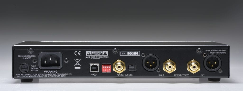 XLR outputs allow for loudspeaker connectivity.