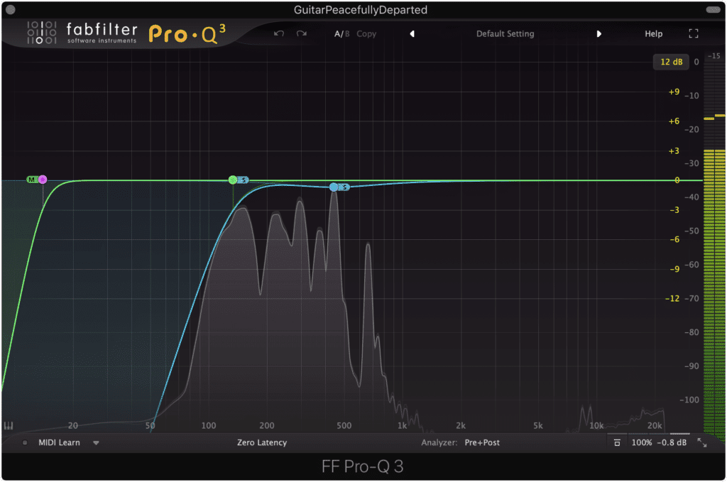 Mid-Side Processing separates your stereo signal into a Mid and Side signal.