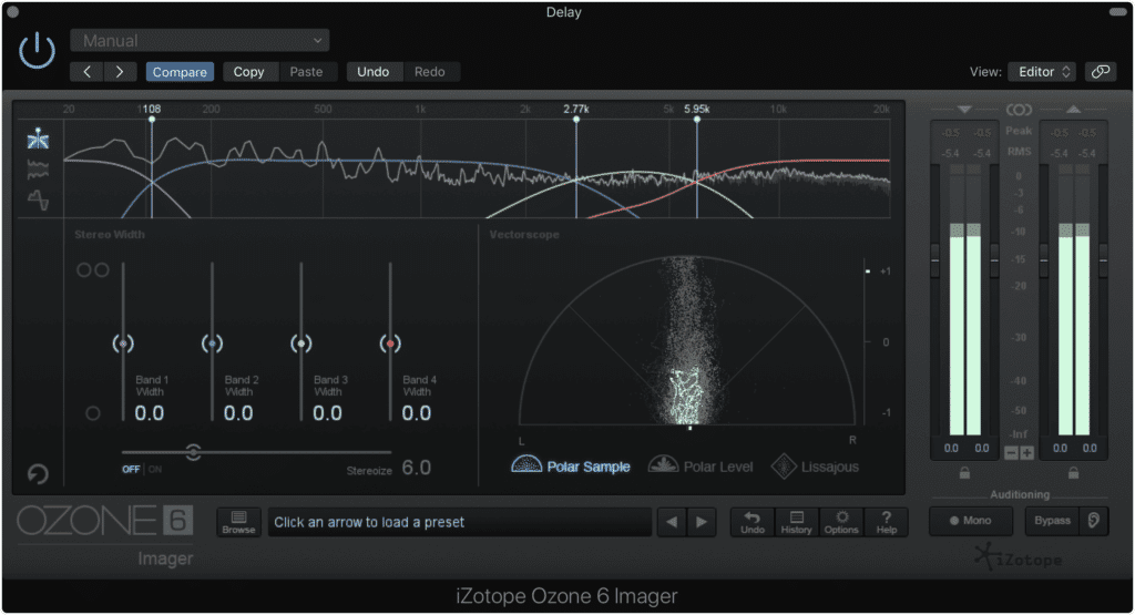 Delay-based processing can be used during mastering, but should typically be avoided.