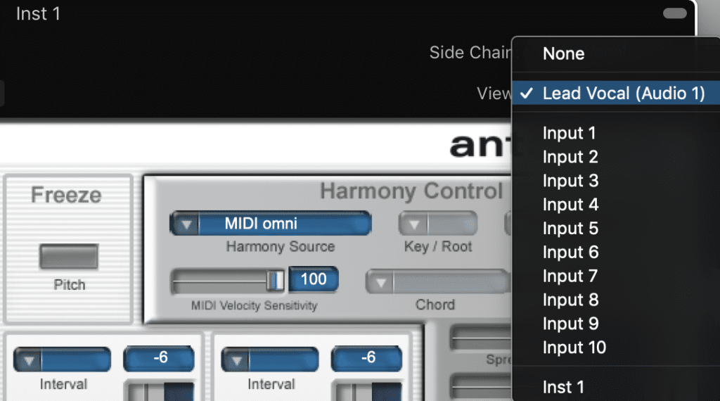 Use this test vocal or lead vocal as the side chain input