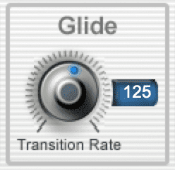Increase the glide function to create an effect similar to the Prismizer.