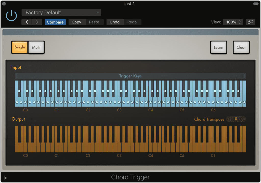 Chord Trigger allows you to play full chords with just one key.
