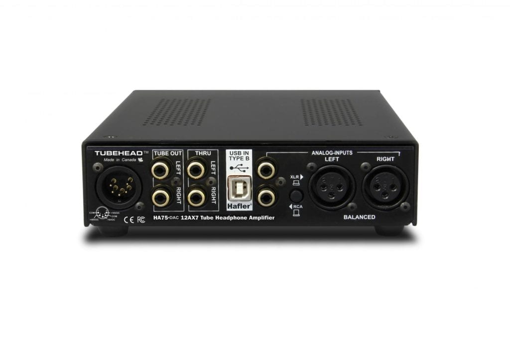 This headphone amp utilizes both digital and analog processing.