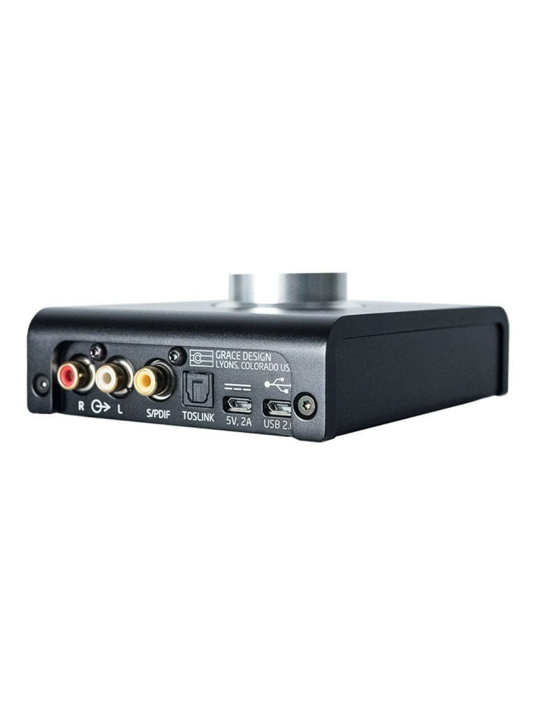 RCA outputs and optical connectivity add some flexibility to the m900's routing.