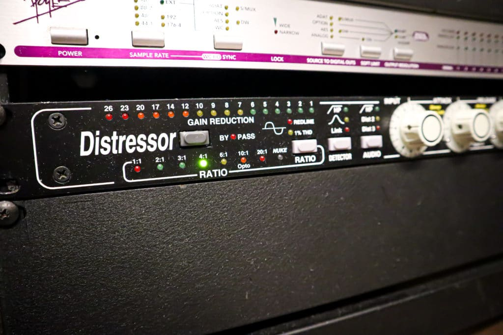 Hardware like the Distressor is used for saturation.