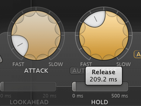 The attack and release functions of a compressor greatly affect the timing of your compression.