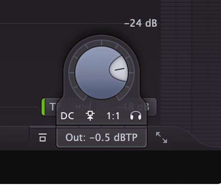 Find your limiter's output and set it to -.5dB