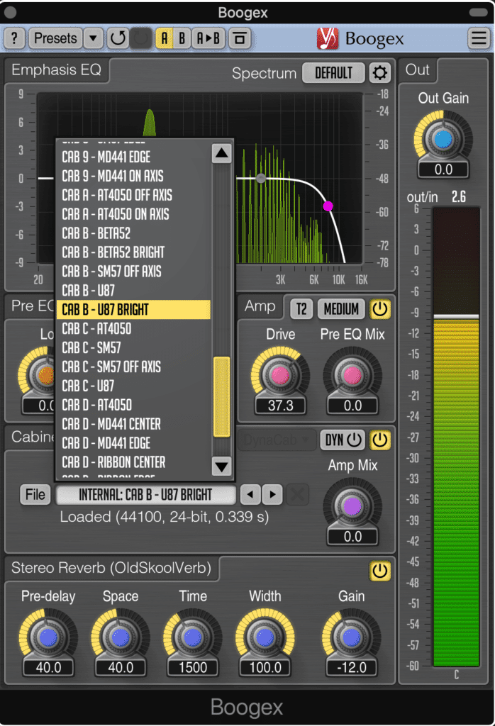Multiple amp modeling options make the harmonics, and the spatial design of the harmonics, more complex