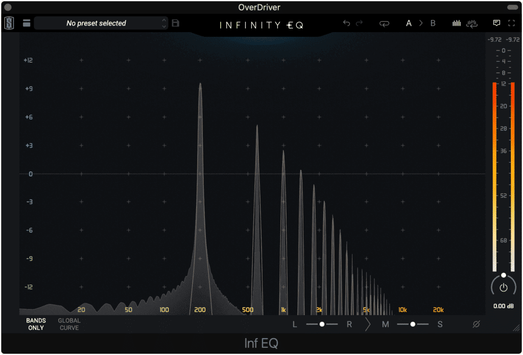 Notice the simplicity of the harmonics generated.
