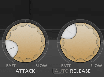 A fast attack and slow release will cause more compression, and smooth out the vocal.
