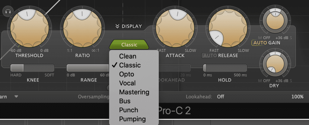 different compressor types cause different sounds - for example, Opto compression is a smoother sounding compression.