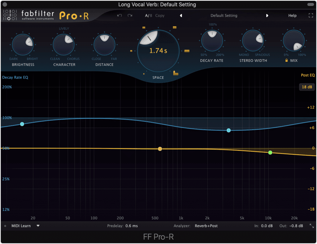 Ensure that the time of your reverb is in-time with the tempo of your track.
