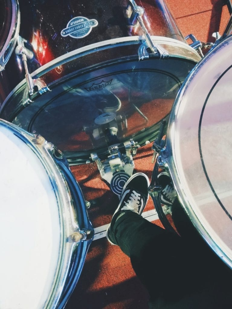 The kick, snare, toms, high hat, and other percussive instruments are defined by their transients.