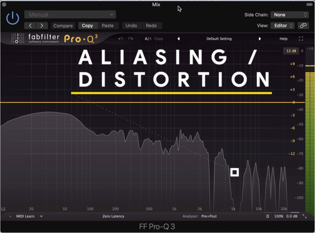 Notice the distortion that occurs when pitch shifting at a lower sampling rate.