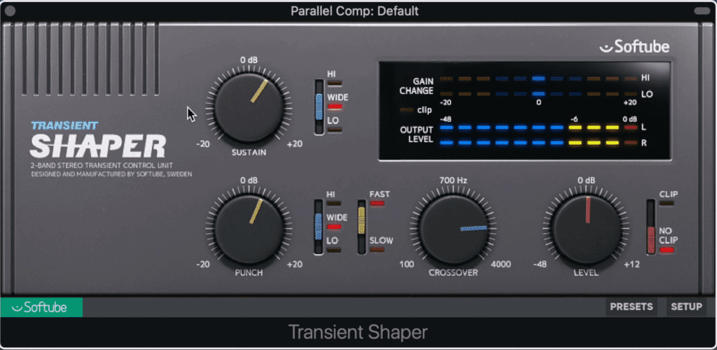 The Transient Shaper by Softube can be used as a great low-level compressor