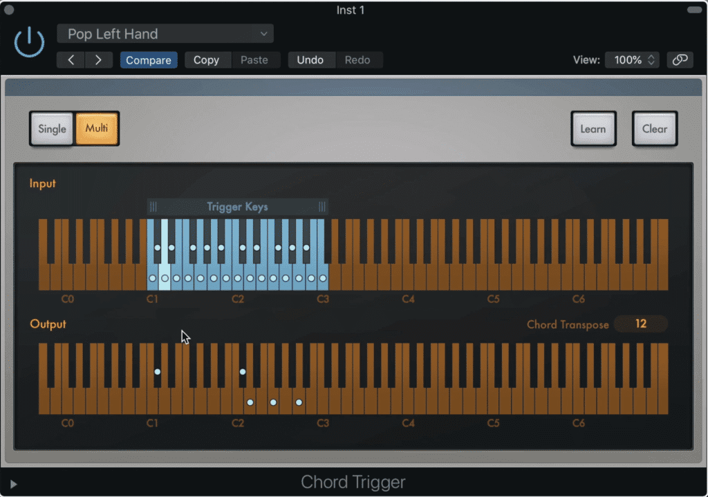 A chord trigger allows you to perform complex chords with just one press of your key.