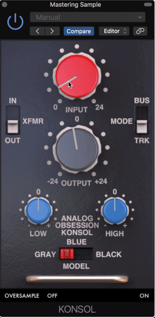 The KONSOL is an analog emulation plugin that models itself off of famous console channel strips.