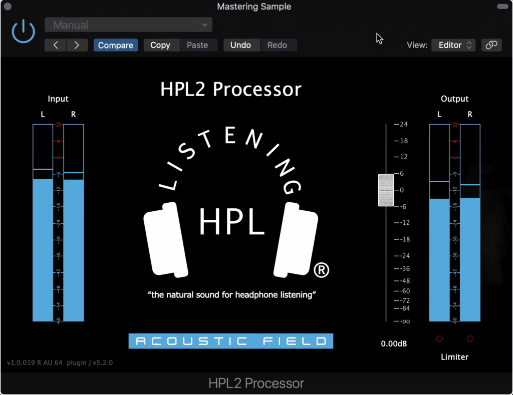 The HPL2 processor is great for getting a new perspective on a mix.