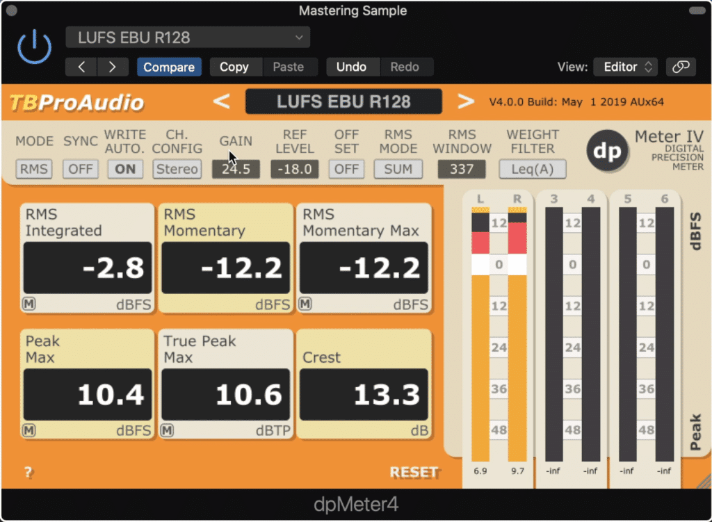 The dbMeter4 can easily take the place of much more expensive pro mix and mastering meters