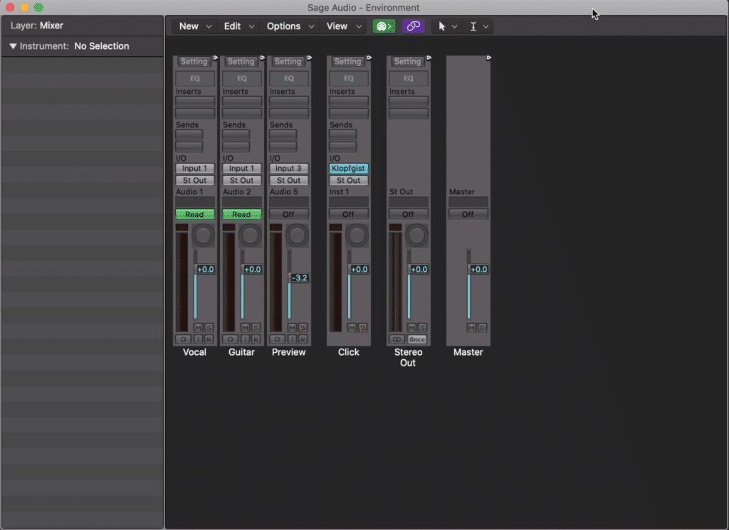 You can use your midi environment to record effects on your track