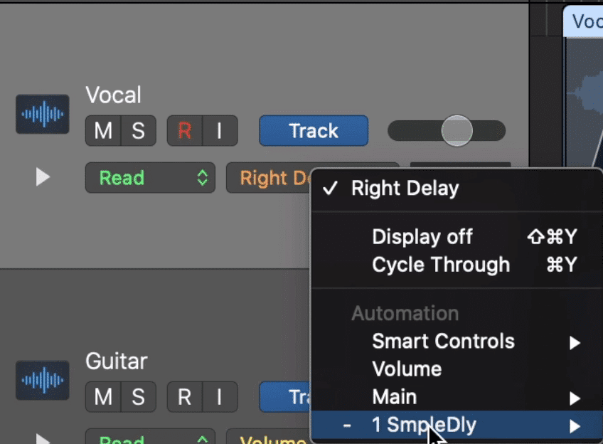 The automation type tab is usually defaulted to Volume