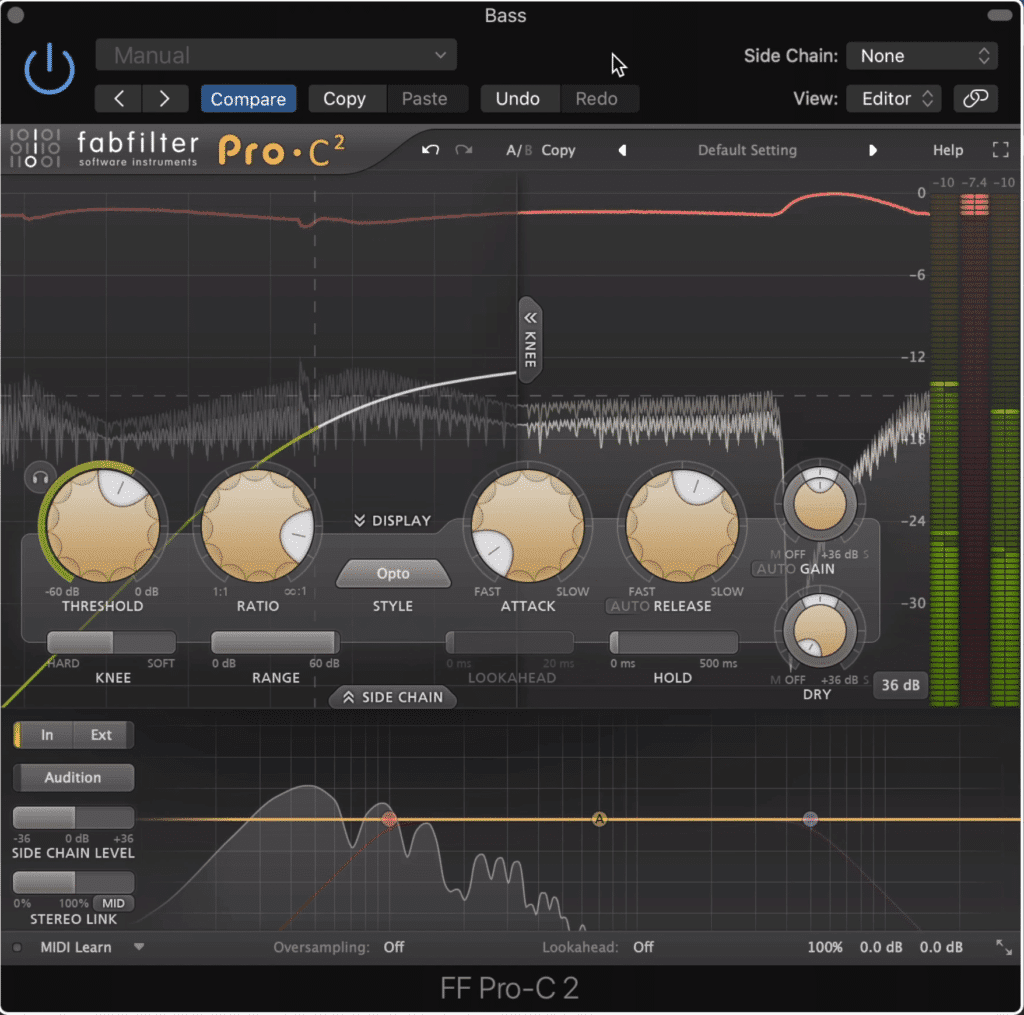 The FabFilter compressor is a good option for this technique