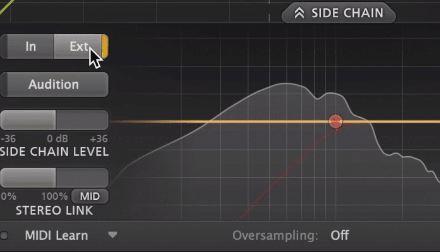 For this plugin, you'll need to set the side-chain to external