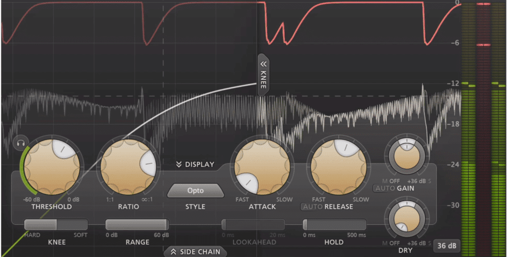 Affect you settings until you achieve the amount of compression that you want.