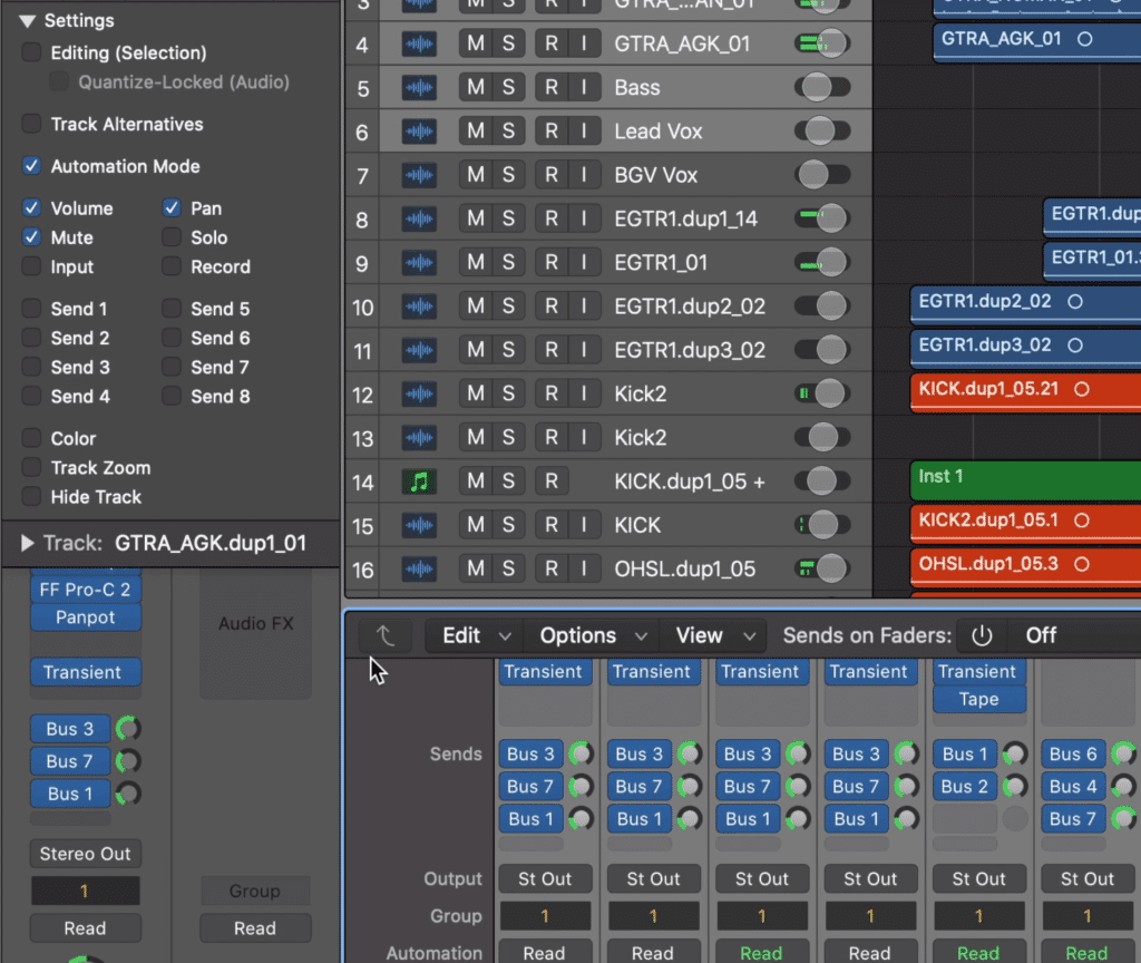You can control all of the parameters shown to the left, via a group.