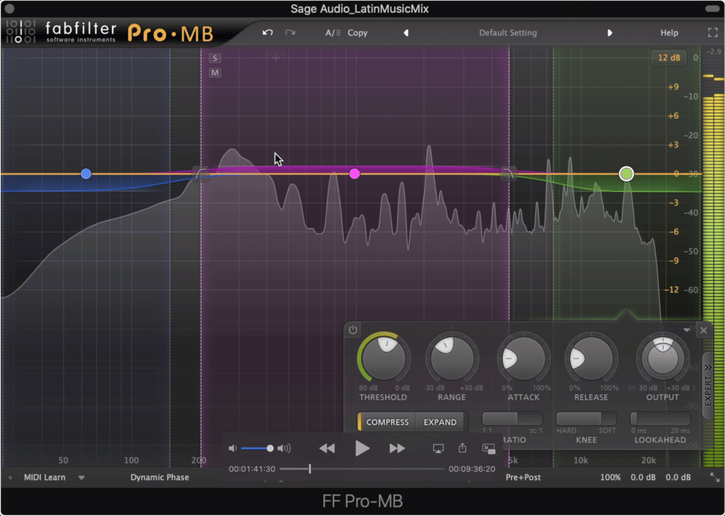 Using a multiband compressor to expand the mid-range while compressing the low and high can be helpful.