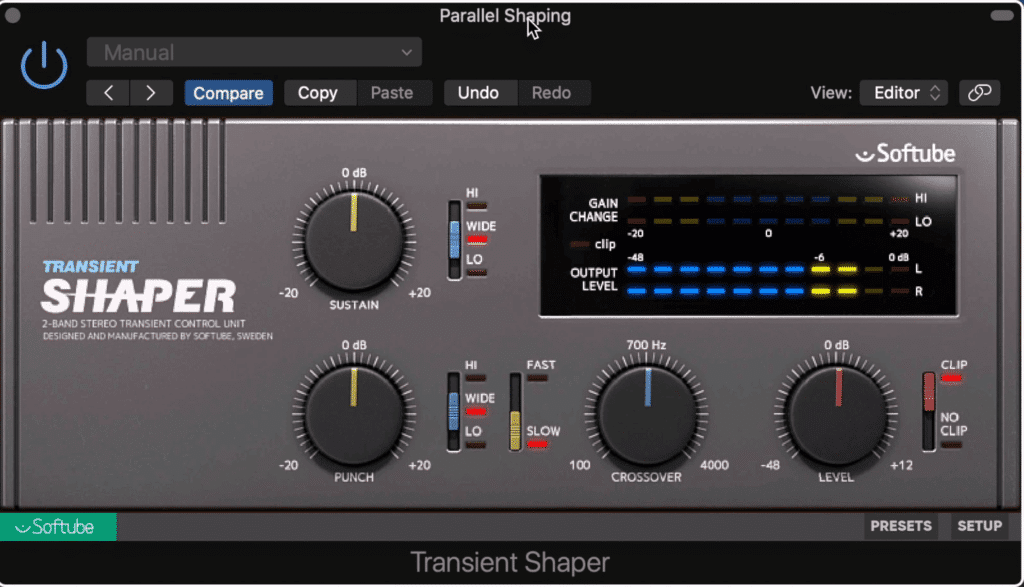 Insert this plugin or a similar one after your eq.  Now, it will only affect the mid-range of the master.