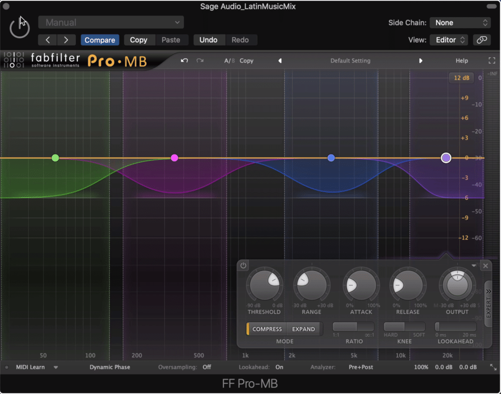 If you still want to compress, a multiband compressor is a better, more accurate option.