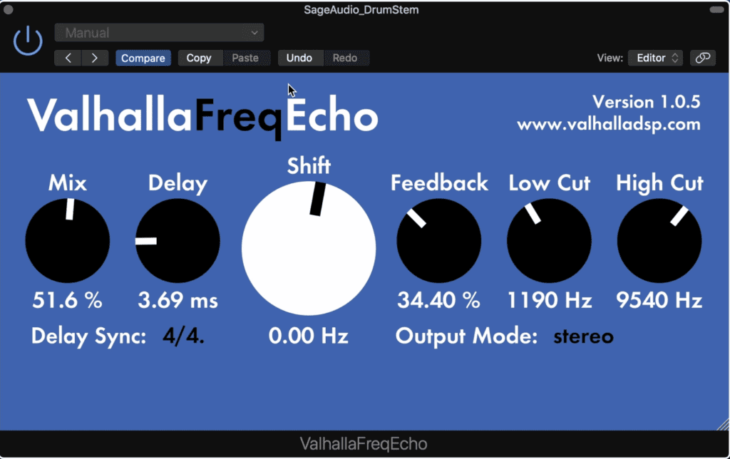 VahallaFreqEcho is by the same makers as the Valhalla Room Reverb plugin.