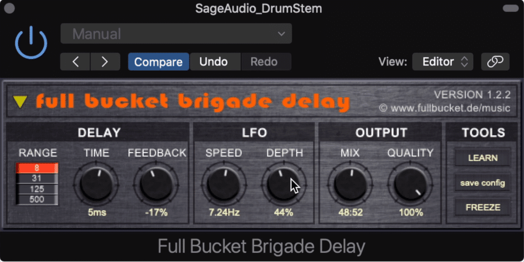 The Brigade Delay is a simple and easy plugin to use.