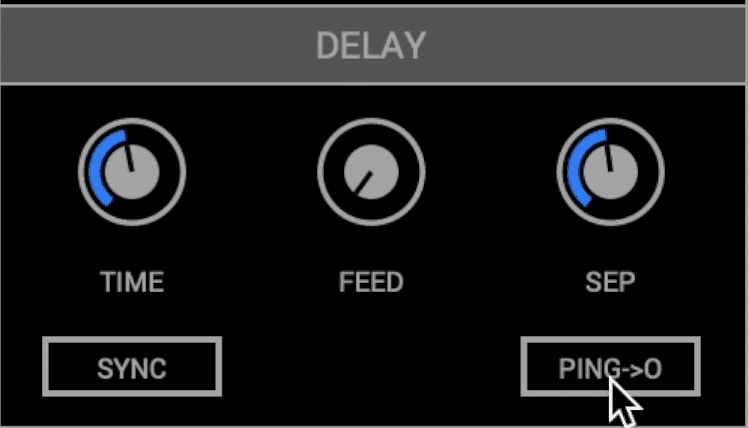 Enable this ping function to have your delay independent of your modulation.