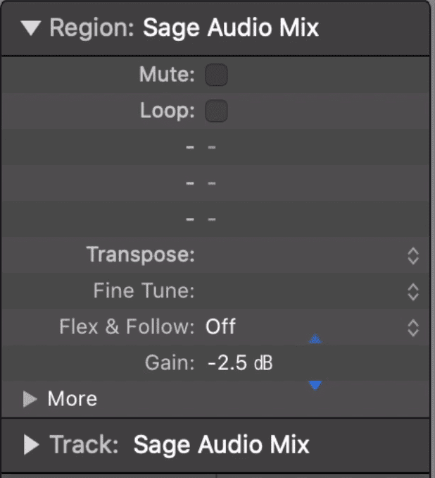 A mix can be turned down with clean gain reduction.