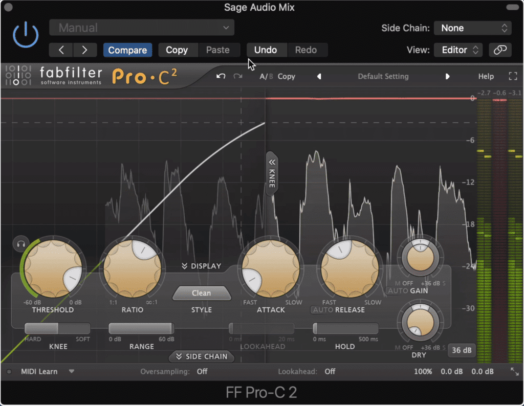 If you're trying to control your dynamics, it's better to use compression throughout your mix.
