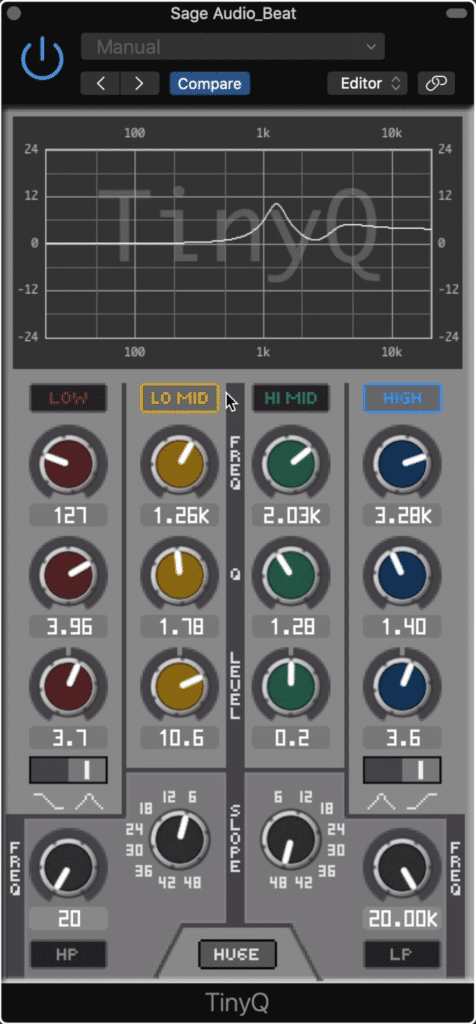 The TinyQ is a great free option, so try it out if you're looking for a new EQ.