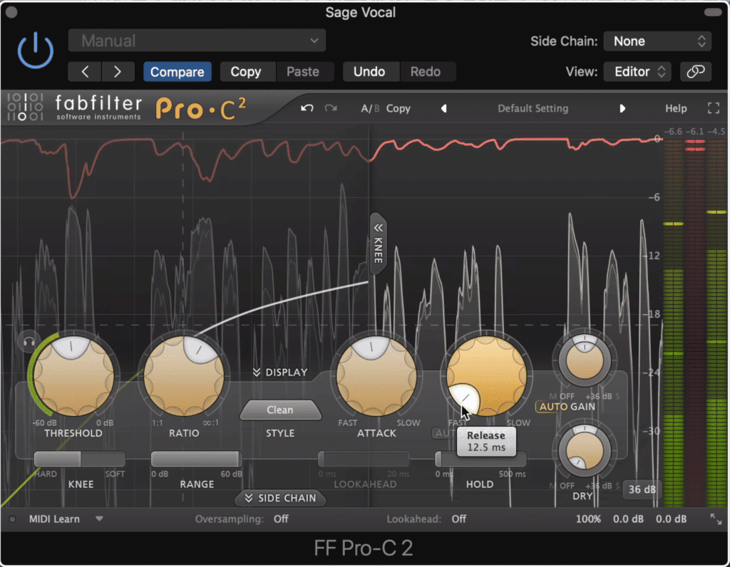 Compression ensures that no drastic change's to the dialogues amplitude occur.